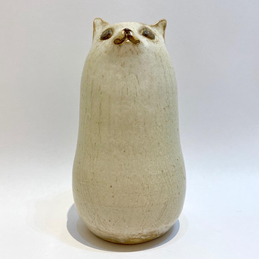 ネコ 花入れ-2