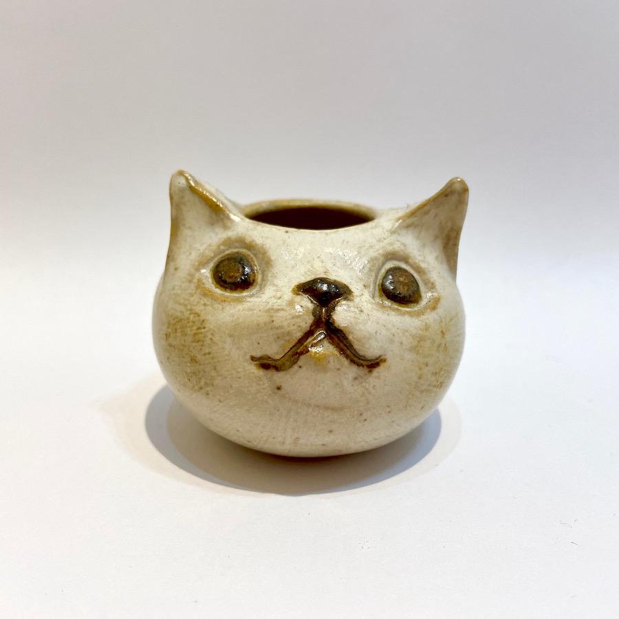 ネコ 花入れ-1