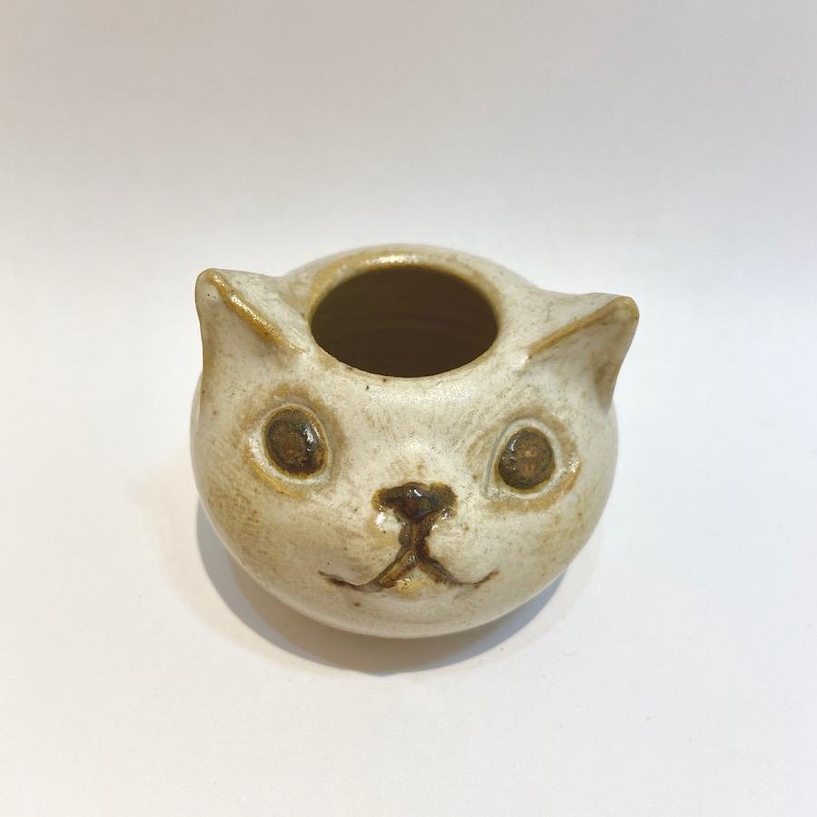 ネコ 花入れ-6