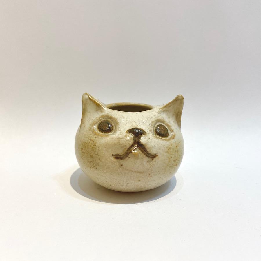 ネコ 花入れ-7
