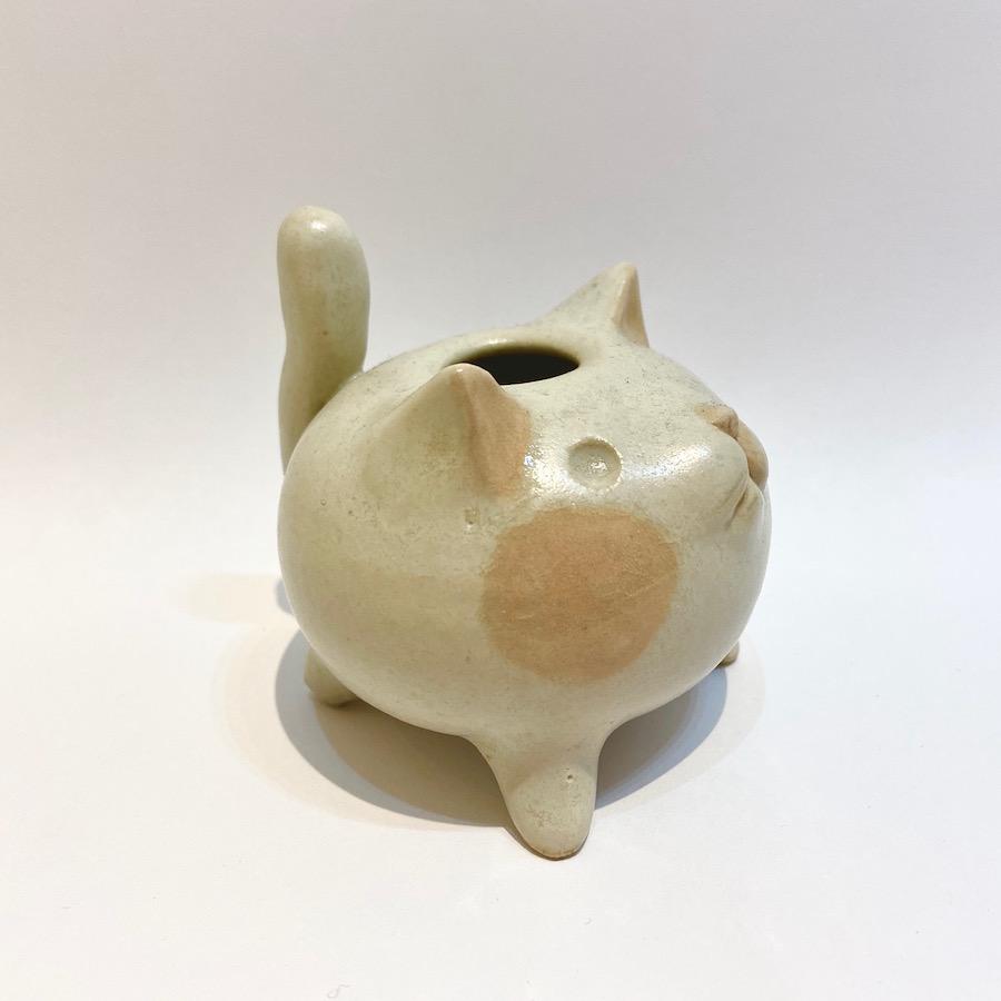 ネコ 花入れ-3