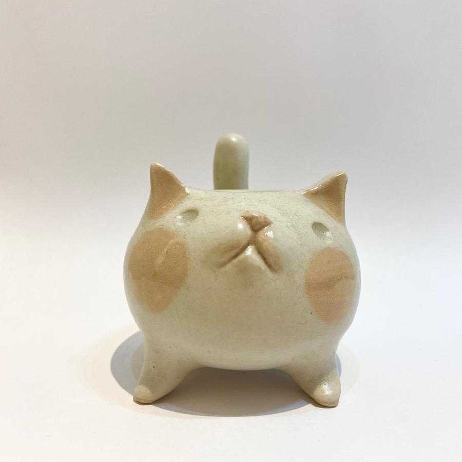 ネコ 花入れ-8