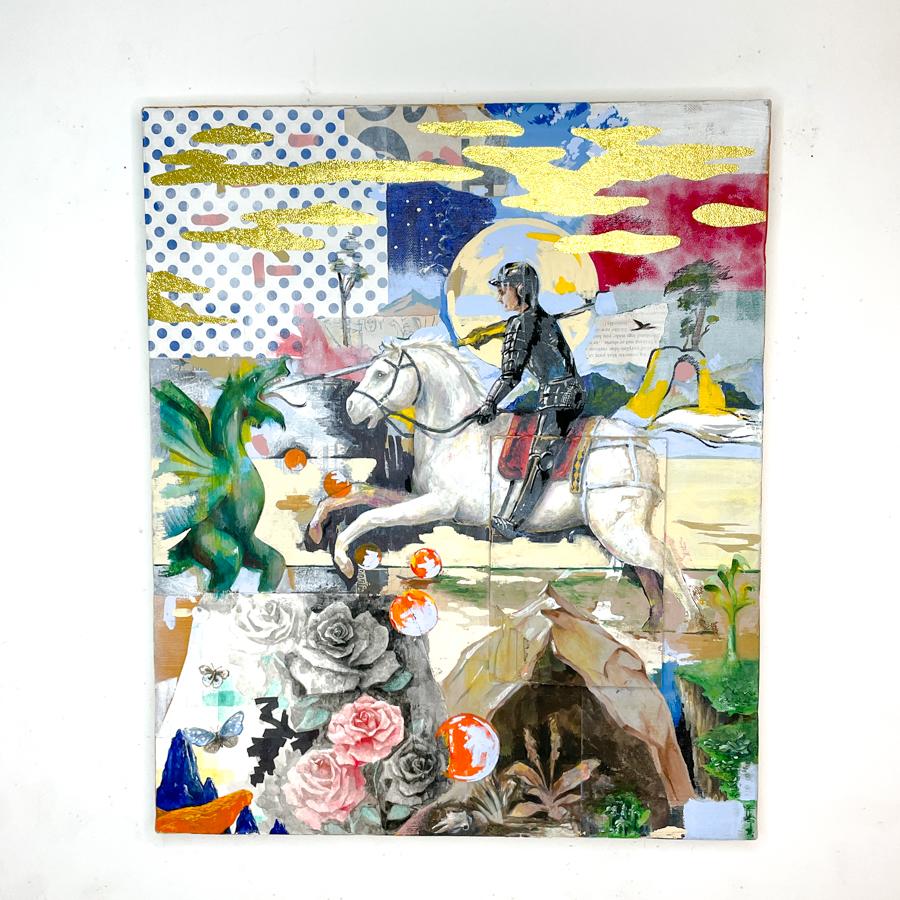 騎士の竜退治(白馬)-1