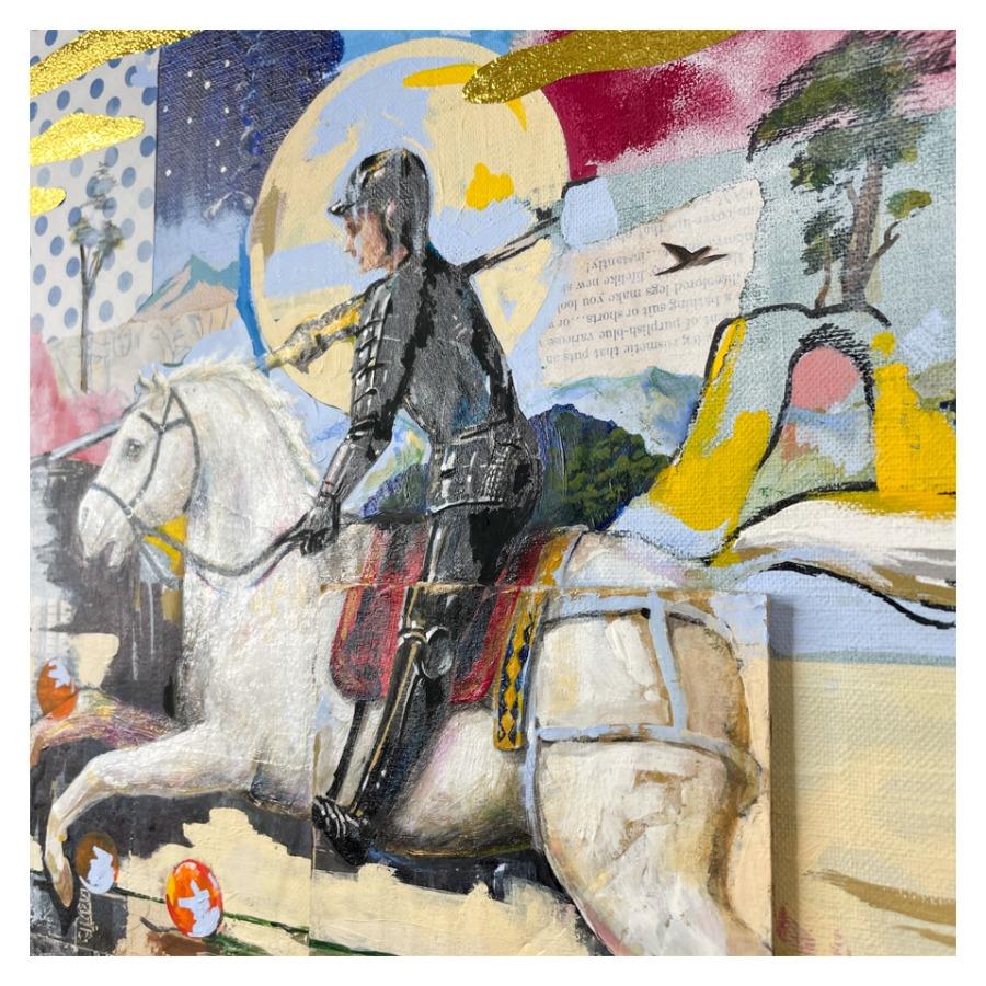 騎士の竜退治(白馬)-6