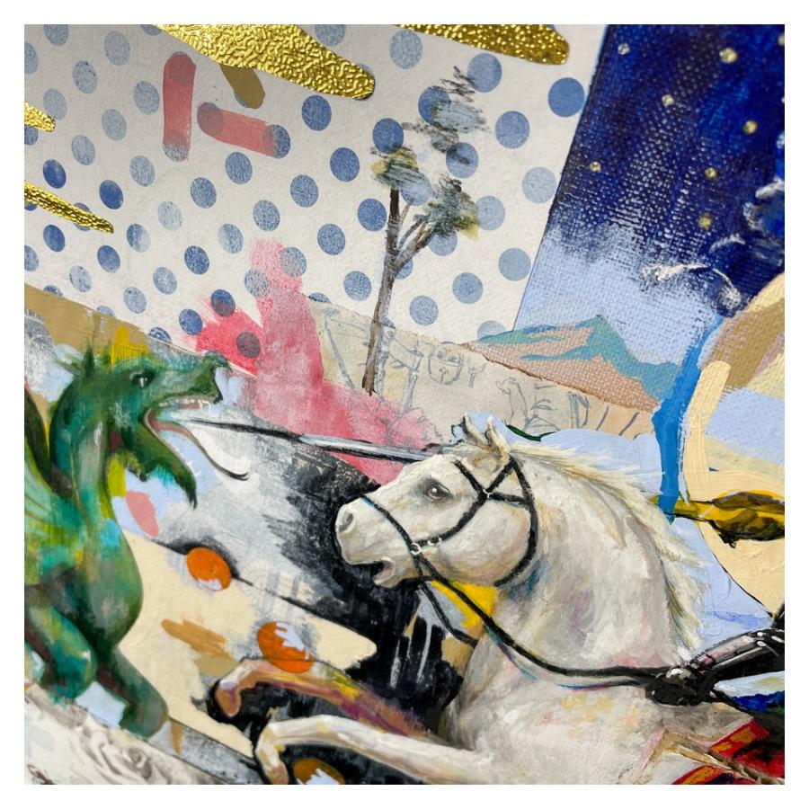 騎士の竜退治(白馬)-8