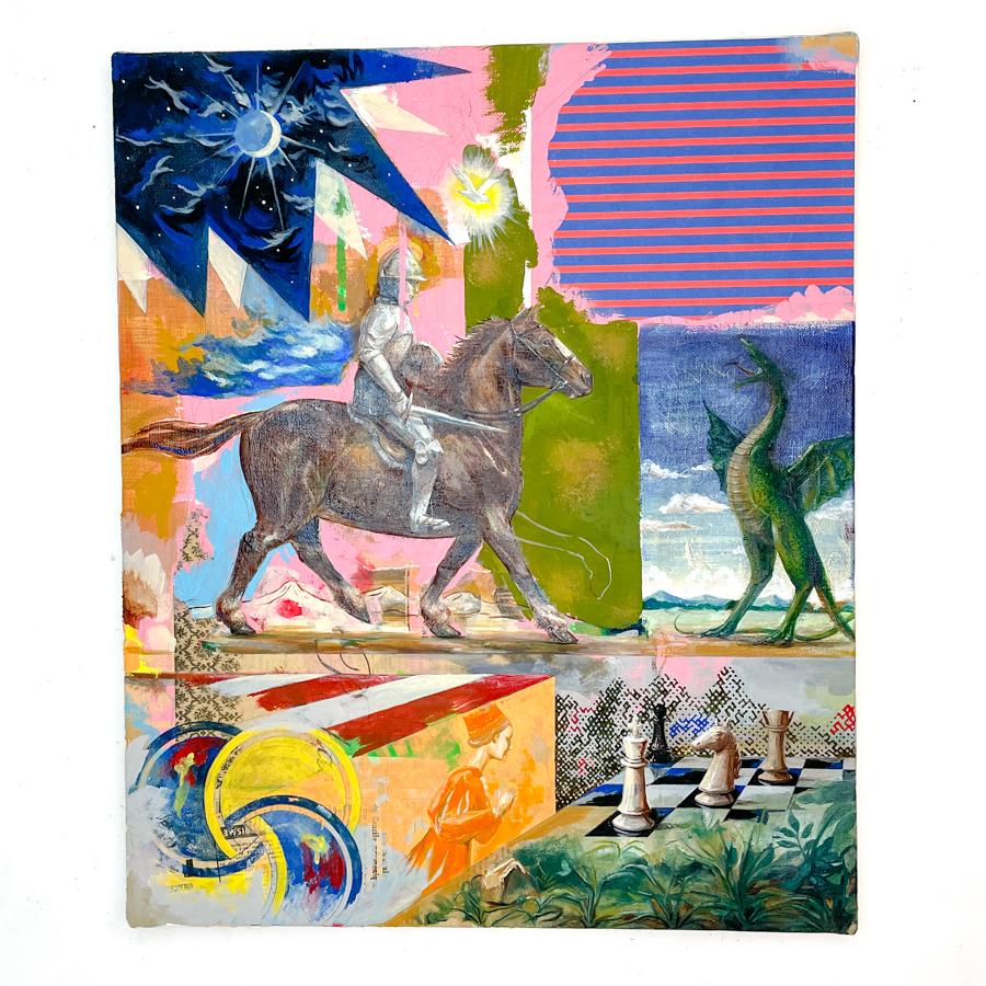 騎士の竜退治(栗毛馬)-1