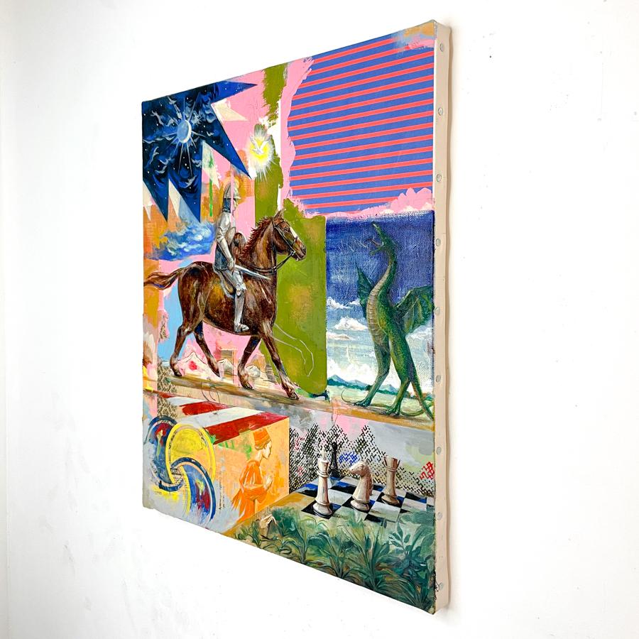 騎士の竜退治(栗毛馬)-2