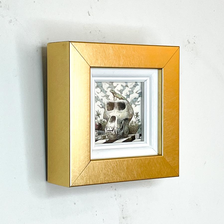 トカゲとゴリラの頭骨-3