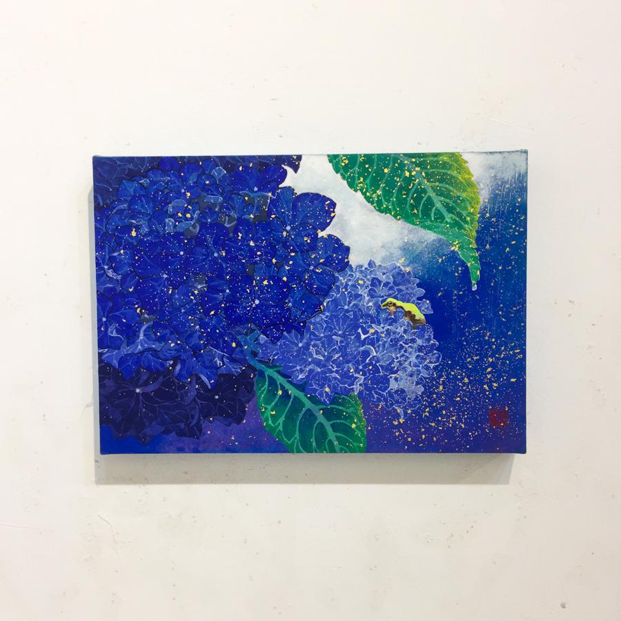 紫陽花と雨蛙-2