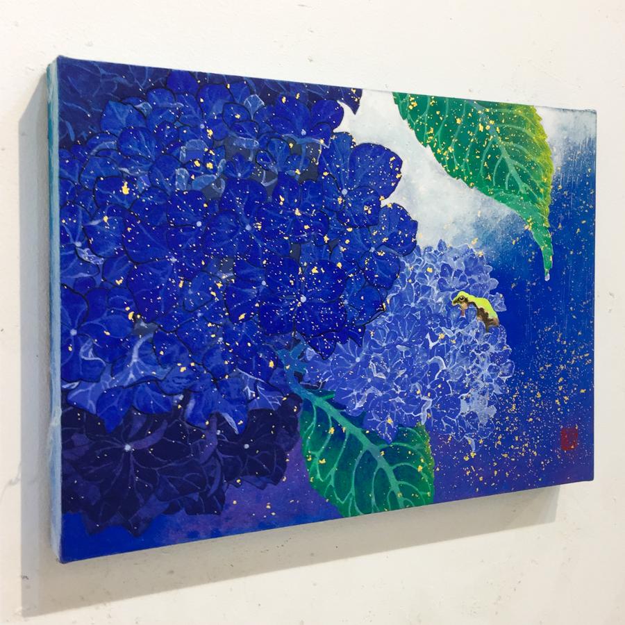 紫陽花と雨蛙-5