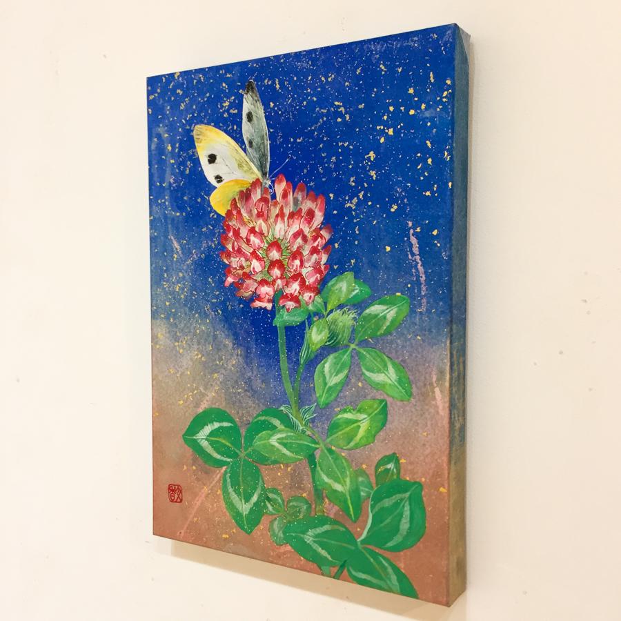 赤詰草と紋白蝶-3