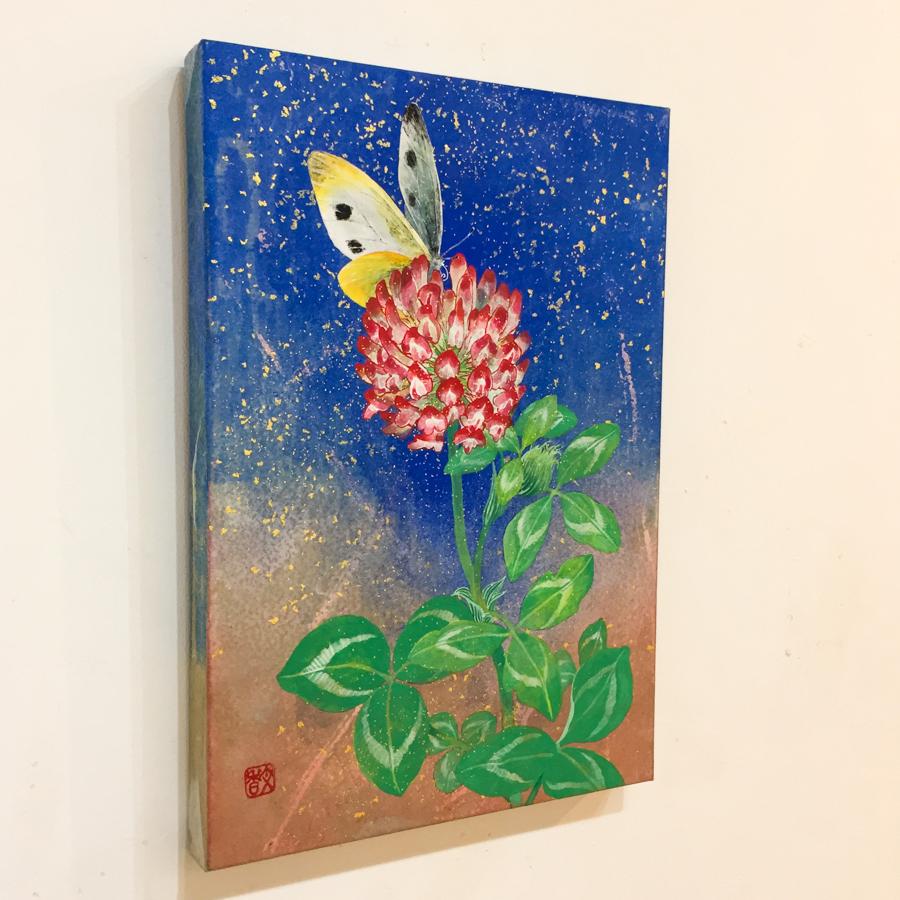 赤詰草と紋白蝶-4