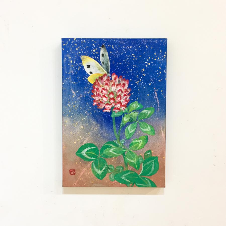 赤詰草と紋白蝶-7