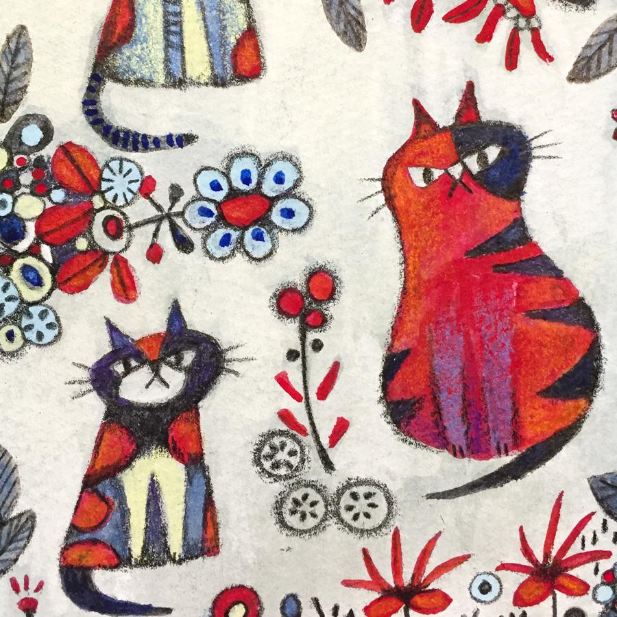 原画「ネコとねこと猫」-4
