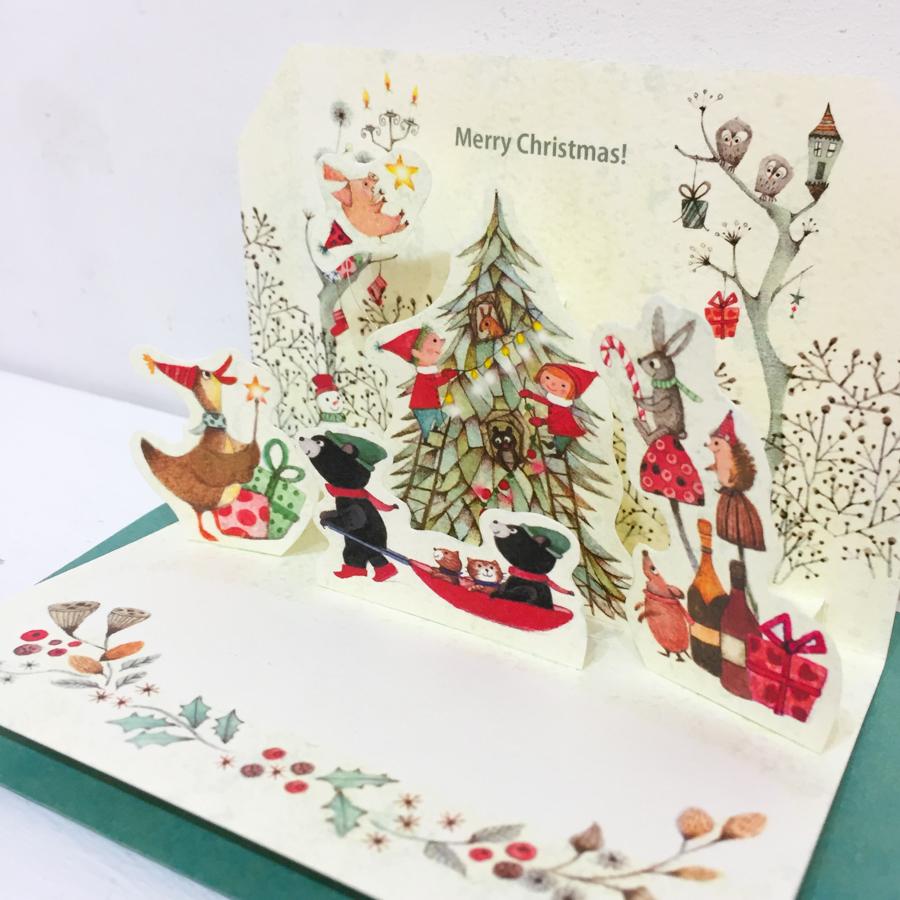 ポップアップカード(クリスマス)-2