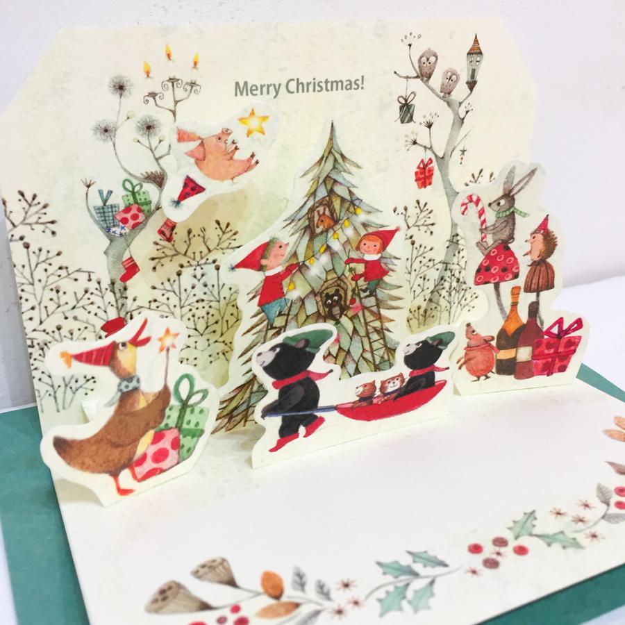 ポップアップカード(クリスマス)-3