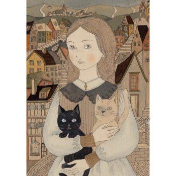 アルザスの少女と猫
