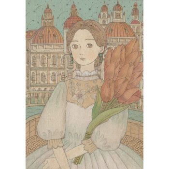 桃色の花束